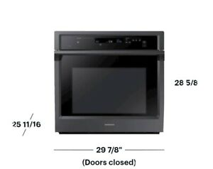 """Samsung - 30"""" Single Wall Oven with Steam Cook and WiFi - Fingerprint Resistant"""