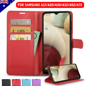For Samsung Galaxy A32 4G A52 A72 A12 A20 A30 Leather Wallet Card Case Cover
