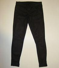 BEAUTIFUL NOBODY WAXY BLACK SLIM LEG JEANS size 28 Made in Australia