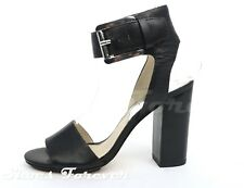Womens MICHAEL / MICHEAL KORS black leather sandals ankle strap sz. 5.5 M NEW!