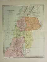 1904 Map Of Antiguo Historia ~Palaestina~ Galilea Samaria Judaea