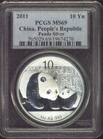 2011 China Silver Panda Coin PCGS MS 691 oz .999 Fine Silver