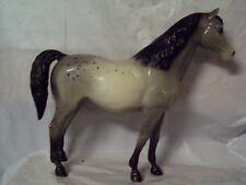Breyer Traditional Vintage Family Arabian Mare -glossy gray appaloosa belly band