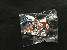2014 SOCHI OLYMPIC MEDIA PIN BADGE JAPANESE TV ASAHI DORAEMON PINS