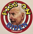 Joe Biden Target Toilet Urinal Sticker (Piss on Biden) by wizzstickers