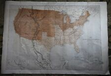 United States Large Vintage 1861 Antique T. Euling Map Illustrated London News