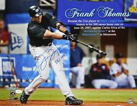 Frank Thomas Autographed 16x20 Named Swinging Photo W/ 521 HR- JSA Authenticated