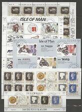 Isla de Man, Guernsey, guersey-lot bl./heftchenblätter con sello used