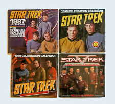 Star Trek 1987 | 1988 | 1989 | 1990 Calendars - Set Of 4