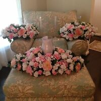 Silk Rose 3 Pc. Globe Arrangements - Church, Home, Brides Reception Your Colors