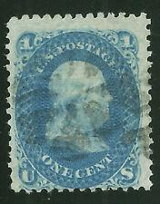 1868 US SC 86 1c Used  Blue Franklin E Grill Fine Sound Fresh Great Color!     8