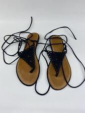ROUGE HELIUM: Ankle Strap Woman Sandals Shoes size 9 Elegant Black