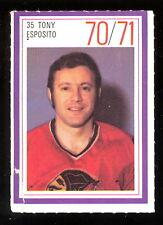 1970-71 ESSO POWER PLAYERS NHL #35 TONY ESPOSITO EX+ CHICAGO BLACK HAWKS STAMP