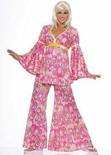 Flower Power Hippie Costume for Women One Size Woodstock New by Forum 61797