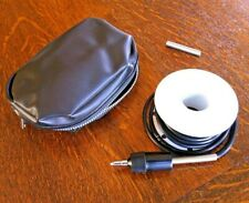 Vintage Camera Shutter Air Release Extension Tube 20' Long Rubber Cable Zip Case