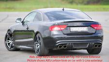 Rieger CUP Diffusor für Audi A5 B8 S5 S-Line Coupé Cabrio Heckansatz Ansatz