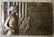 plaque de Bronze - prix concours de Musique - signée Geneviève GRANGER