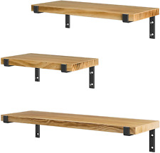 Wood Shelves For Wall Rustic Wall Mounted Shelve Living Room Bedroom And Kitchen