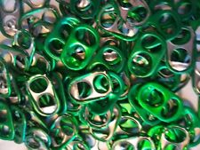 100 GREEN ALUMINUM CAN TABS ASSORTED PULL TABS POP TOPS SODA BEER