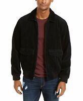 Sun + Stone Mens Jackets Black Size Medium M Shirt Corduroy Full-Zip $100 202
