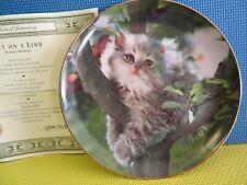 Franklin Mint Out on a Limb 8� w/Cat/Kitten Plate & Cert. of Authen.