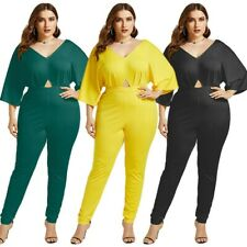 Women Sexy V-neck Maxi Siamese Pants Fashion Rompers Summer Jumpsuit Plus Size