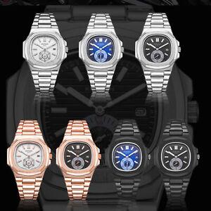 KIMSDUN Men's Quartz Watch Stainless Steel Luminous Military Sport Wrist Watch