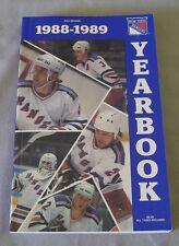 Original NHL New York Rangers 1988-89 Official Hockey Media Guide