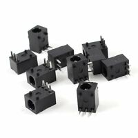 10Pcs Black 3 Pin 3.5mm x 1.3mm DC Power Jack Socket PCB Mount SYAU High Qu V0P0