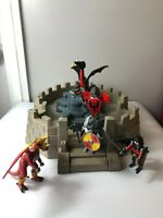 Playmobil dragon knights bundle, castle figures playset, dragon sword and shield