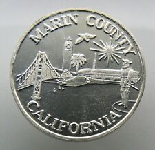 New Listing1 oz Silver Bullion Round .999 Fine ~ Marin County California