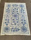 Embroidery Original Uzbek Vintage Wall Decor Tablecloth Handmade  Suzani