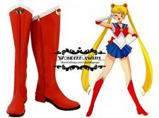 Japanese Anime Sailor Moon Red Girls Cosplay shoes boots Custome Customized W-1