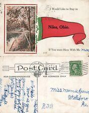 NILES OH 1915 ANTIQUE POSTCARD