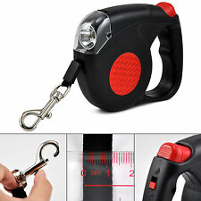 Retractable Dog Lead With LED Torch 4.5 Metre Pets Puppy Leash FREE FAST POSTAGE
