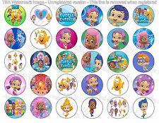 """30 Precut 1"""" Bubble Guppies Bottle cap Images Set 3"""