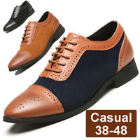 Fashion Men's Leather Casual  Formal Office Shoes Breathable Antiskid Oxfords
