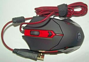 NEW Redragon Model S101-3 LED Red Optical USB Backlit Gaming Corded Wired Mouse