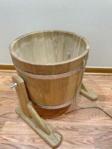 20L Сауна Sauna Bucket Shower Waterfall Water Баня Banya Wooden Bath SPA Jacuzzi
