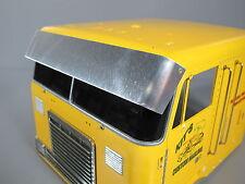 Aluminum Sun Visor Block Plate for Tamiya RC 1/14 Globe Liner Semi Tractor Truck