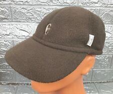 Vintage Conte of Florence FLEECE Winter Brown Baseball Cap Adjustable Ear Flaps