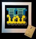 BEN EINE H BLUE Signed Art Print Circus Font Shutterfont Urban Alphabet Love