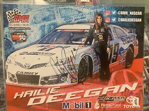 Hailie Deegan Autographed Mobil 1 K&N Series Postcard Herocard Signed Nascar