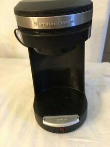 HAMILTON BEACH SINGLE SERVE COFFEE BREWER- SINGLE CUP- POD-TYPE A70-500 WATT-EUC