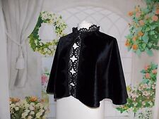 New Ladies Victorian Gothic Edwardian Dickens Cape Capelet Fancy Dress Costume
