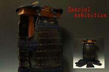 Japan Antique Edo yoroi iyozan Do kabuto koshirae armor katana samurai gold iron