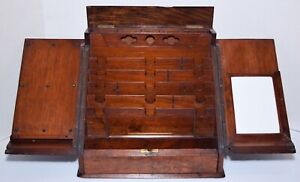 Asprey London ANTIQUE19TH CENT. SOLID WOOD WRITING DESK/STATIONARY BOX Victorian