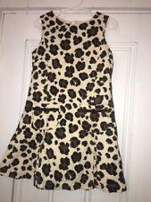 Mini Boden corduroy leopard print jumper Dress 5-6y