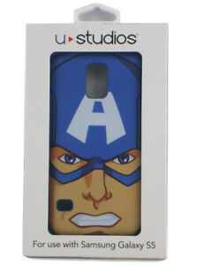 Captain America Samsung Galaxy S5 Fitted Hard Case Marvel Universal Studios New