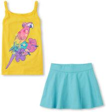 NWT Children's Place Yellow Braided-Strap Tank & Blue Skort 2 piece set S (5/6)